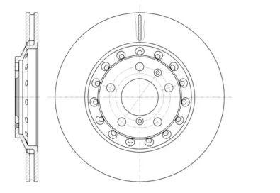 Вентилируемый задний тормозной диск на VOLKSWAGEN PHAETON 'ROADHOUSE 61155.10'.