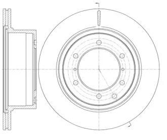 Вентилируемый задний тормозной диск на HYUNDAI TERRACAN 'ROADHOUSE 61159.10'.