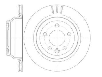 Вентилируемый задний тормозной диск на Фольксваген Таурег 'ROADHOUSE 61160.10'.