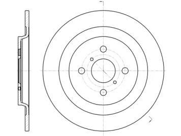 Задний тормозной диск на Дайхатсу Шарада 'ROADHOUSE 61173.00'.
