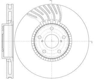 Вентилируемый передний тормозной диск на LEXUS GS 'ROADHOUSE 61179.10'.