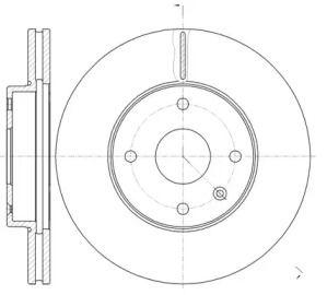 Вентилируемый передний тормозной диск на CHEVROLET EPICA 'ROADHOUSE 61181.10'.