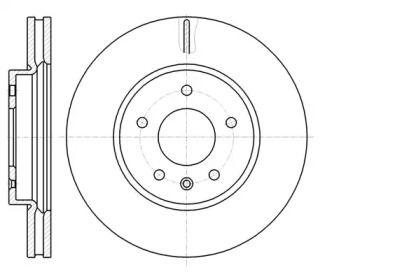 Вентилируемый передний тормозной диск на Шевроле Каптива 'ROADHOUSE 61183.10'.