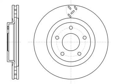Вентилируемый передний тормозной диск на Джип Патриот 'ROADHOUSE 61200.10'.