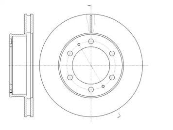 Вентилируемый передний тормозной диск на TOYOTA FORTUNER 'ROADHOUSE 61205.10'.