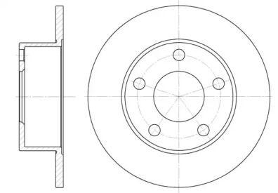 Задний тормозной диск на AUDI QUATTRO 'ROADHOUSE 6121.00'.