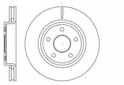 Вентилируемый передний тормозной диск на JEEP COMMANDER 'ROADHOUSE 61210.10'.