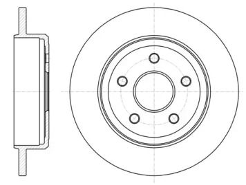 Задний тормозной диск на JEEP COMMANDER ROADHOUSE 61211.00.