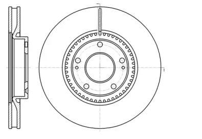 Вентилируемый передний тормозной диск на HYUNDAI GRANDEUR 'ROADHOUSE 61217.10'.