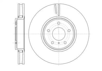 Вентилируемый передний тормозной диск на Инфинити Ку60 'ROADHOUSE 61244.10'.