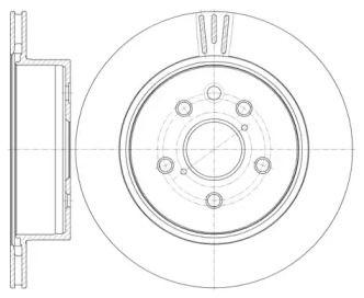Вентилируемый задний тормозной диск на LEXUS IS 'ROADHOUSE 61255.10'.