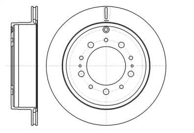 Вентилируемый задний тормозной диск на Тайота Секвойя 'ROADHOUSE 61257.10'.
