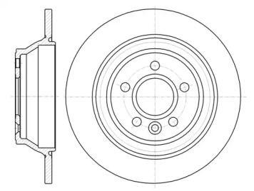 Задний тормозной диск на VOLVO S60 'ROADHOUSE 61265.00'.