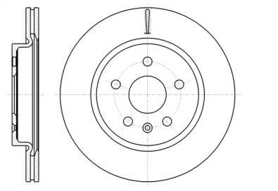 Вентилируемый задний тормозной диск на Шевроле Малибу 'ROADHOUSE 61284.10'.