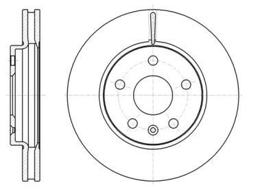 Вентилируемый передний тормозной диск на Шевроле Малибу 'ROADHOUSE 61285.10'.