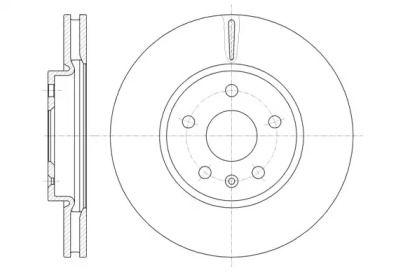 Вентилируемый передний тормозной диск на CHEVROLET MALIBU 'ROADHOUSE 61286.10'.
