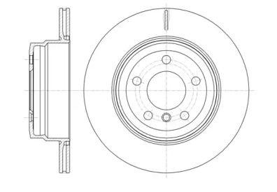 Вентилируемый задний тормозной диск на БМВ Х6 'ROADHOUSE 61287.10'.