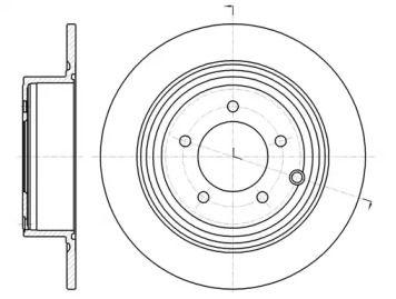 Задний тормозной диск на Джип Компасс 'ROADHOUSE 61290.00'.