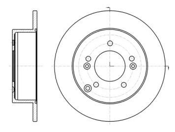 Задний тормозной диск на Киа Каренс 'ROADHOUSE 61293.00'.