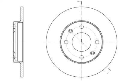 Передний тормозной диск на Ситроен Виза 'ROADHOUSE 6130.00'.