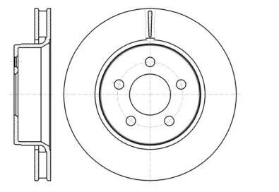 Вентилируемый передний тормозной диск на Додж Нитро 'ROADHOUSE 61301.10'.