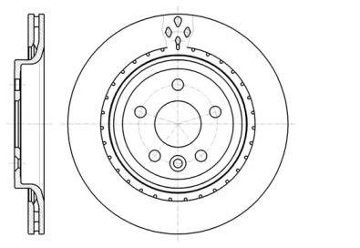 Вентилируемый задний тормозной диск на VOLVO V60 'ROADHOUSE 61305.10'.