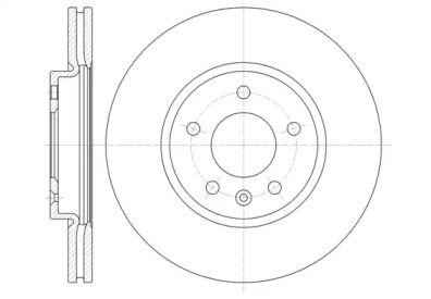 Вентилируемый передний тормозной диск на Шевроле Вольт 'ROADHOUSE 61314.10'.