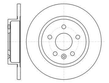 Задний тормозной диск на Опель Мокка 'ROADHOUSE 61316.00'.