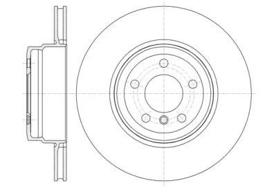 Вентилируемый задний тормозной диск на BMW X6 'ROADHOUSE 61337.10'.