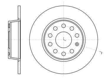 Задний тормозной диск на AUDI Q2 'ROADHOUSE 61340.00'.