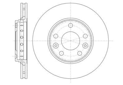 Вентилируемый передний тормозной диск на Рено Флюенс 'ROADHOUSE 61346.10'.