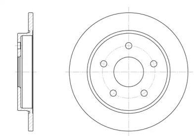 Задний тормозной диск на Форд Скорпио 'ROADHOUSE 6147.00'.