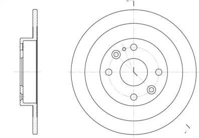 Задний тормозной диск на Мазда 323 'ROADHOUSE 6148.00'.