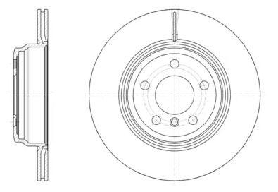 Вентилируемый задний тормозной диск на БМВ 4 'ROADHOUSE 61547.10'.