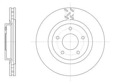 Вентилируемый передний тормозной диск на PEUGEOT 4008 'ROADHOUSE 61553.10'.