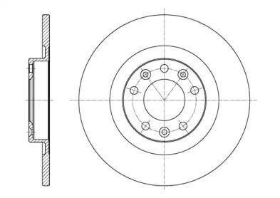 Задний тормозной диск на CITROEN SPACETOURER 'ROADHOUSE 61557.00'.