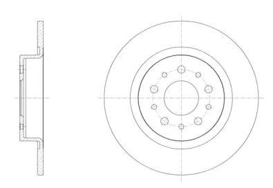 Задний тормозной диск на Фиат 500Л 'ROADHOUSE 61558.00'.