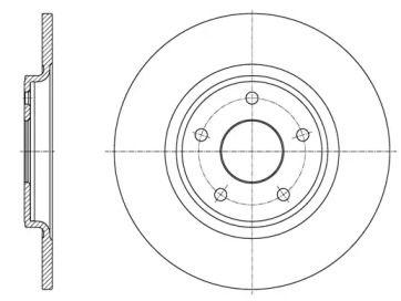 Задний тормозной диск на Фиат Фримонт 'ROADHOUSE 61559.00'.