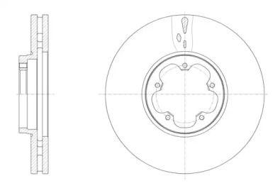 Вентилируемый передний тормозной диск на FORD TOURNEO CUSTOM 'ROADHOUSE 61565.10'.