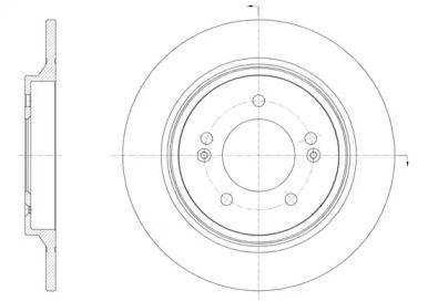 Задний тормозной диск на KIA OPTIMA 'ROADHOUSE 61571.00'.