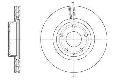 Вентилируемый передний тормозной диск на MAZDA CX-3 'ROADHOUSE 61574.10'.