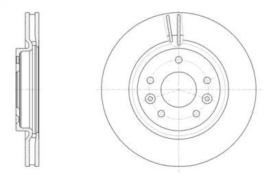 Вентилируемый передний тормозной диск на Рено Каджар 'ROADHOUSE 61581.10'.