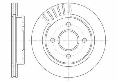 Вентилируемый задний тормозной диск на FORD MONDEO 'ROADHOUSE 6160.10'.
