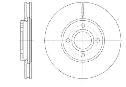 Вентилируемый передний тормозной диск на Форд Экоспорт 'ROADHOUSE 61601.10'.