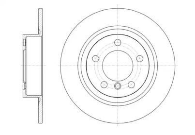 Задний тормозной диск на Мини Каутриман 'ROADHOUSE 61619.00'.