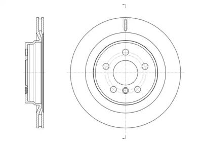 Вентилируемый задний тормозной диск на БМВ Х1 'ROADHOUSE 61632.10'.