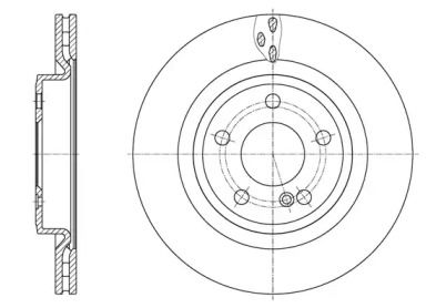 Вентилируемый задний тормозной диск на MERCEDES-BENZ GLA 'ROADHOUSE 61633.10'.