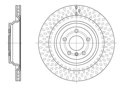 Вентилируемый задний тормозной диск на MERCEDES-BENZ GLE 'ROADHOUSE 61635.10'.