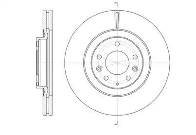 Вентилируемый передний тормозной диск на MAZDA CX-9 'ROADHOUSE 61638.10'.