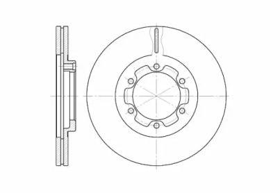 Вентилируемый передний тормозной диск на Исузу Джемини 'ROADHOUSE 6188.10'.